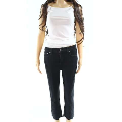 Lauren By Ralph Lauren Black Womens Size 4P Petite Stretch Jeans