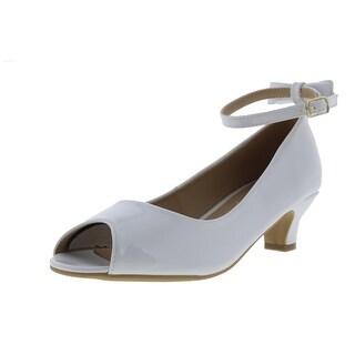 Steve Madden Girls Jpeep Patent Peep-Toe Heels - 5 medium (b,m)