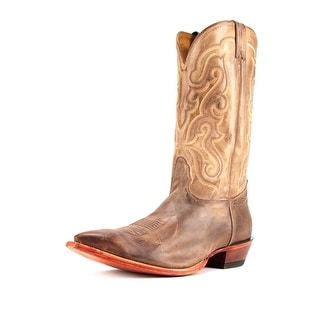 Nocona MD2731 Men 2E Pointed Toe Leather Tan Western Boot