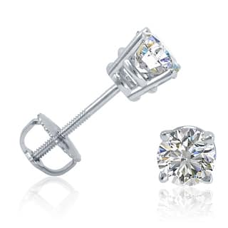 Amanda Rose Collection 1/2ct tw Diamond Stud Earrings in 14K White Gold with Screw Backs|https://ak1.ostkcdn.com/images/products/is/images/direct/480932872628f36571ebcdaef9a545e85c9f6c99/Amanda-Rose-Collection-1-2ct-tw-Diamond-Stud-Earrings-in-14K-White-Gold-with-Screw-Backs.jpg?impolicy=medium