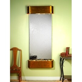 Adagio Inspiration Falls Fountain w/ Silver Mirror in Rustic Copper Finish