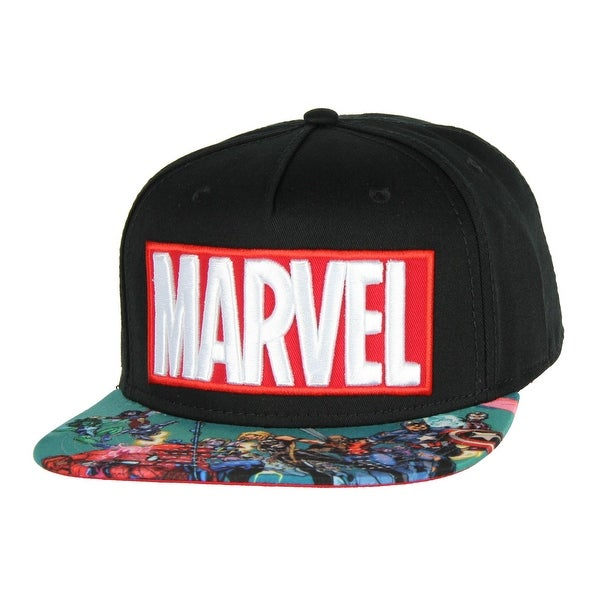 89690ad2 Shop BIOWORLD Marvel Comics Logo And Sublimated Flatbill Hat Cap ...