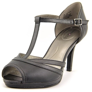 Bandolino Steam Women Open Toe Synthetic Black Sandals