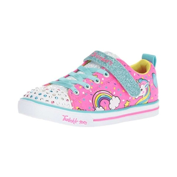 98f67288d3 Shop Kids Skechers Girls Unicorn Cazu Low Top Lace Up Walking Shoes ...