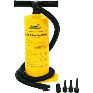 Texsport 23115 Double Action Hand Pump, Plastic