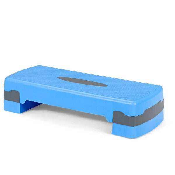 """26"""" Aerobic Exercise Cardio Stepper with Riser-Blue. Opens flyout."""