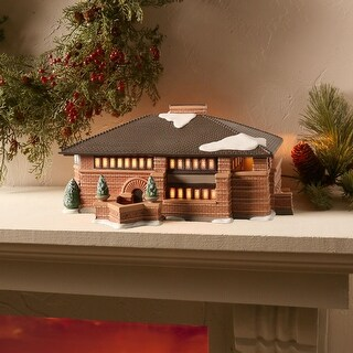 Frank Lloyd Wright Light-Up Heurtley House - Holiday Decor