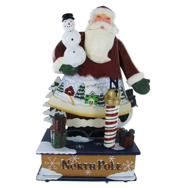 Old St. Nick Santa '12 Days of Christmas' Music Box