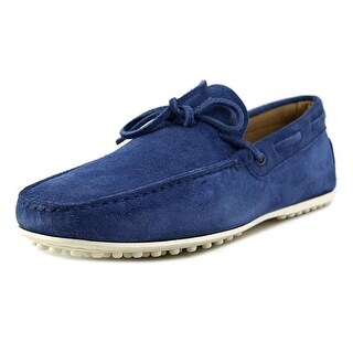 Tod's Laccetto City Gommino Men A Moc Toe Suede Blue Loafer