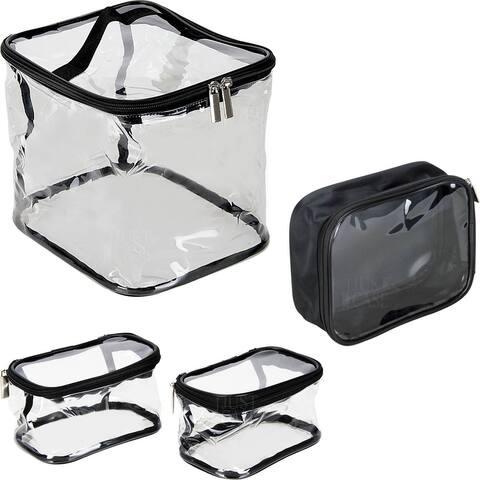 Casemetic PC06 4-In-1 Makeup Clear Bag Set - Transparent