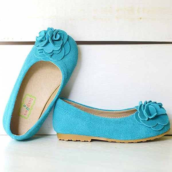 950ec3ccb27 Shop Foxpaws Turquoise Boutique Suede Rosette Kate Shoes Toddler Girls 6-10  - Free Shipping On Orders Over  45 - Overstock - 23077349
