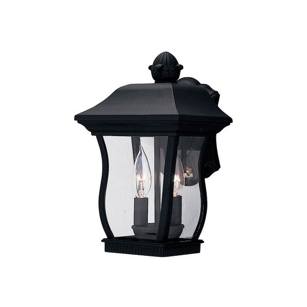 "Designers Fountain 2712-BK 2-Light 8.25"" Cast Aluminum Cast Wall Lantern from the Chelsea Collection - Black - N/A"