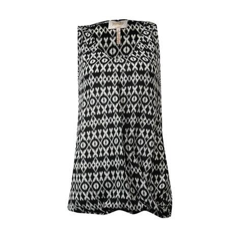 Laundry by Shelli Segal Women's Geometric Drape Blouse - Black Multi