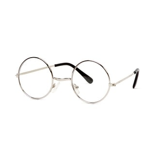Gravity Shades Circular Silver Frame Clear Lens Glasses - One size