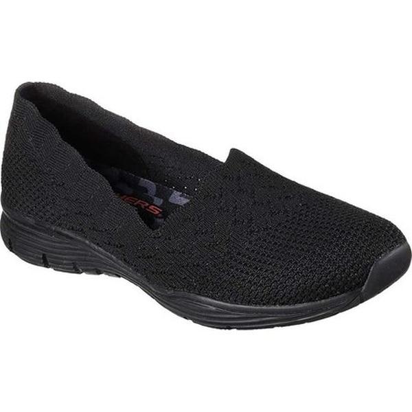 skechers black slip on womens