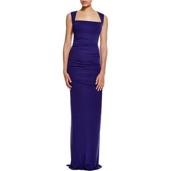 Shop Nicole Miller Womens Formal Dress Jersey Sleeveless 6 Free