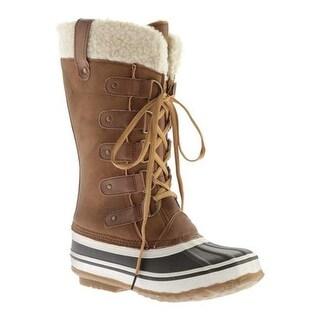 Portland Boot Company Women's Duck Duck Tall Snow Boot Tan