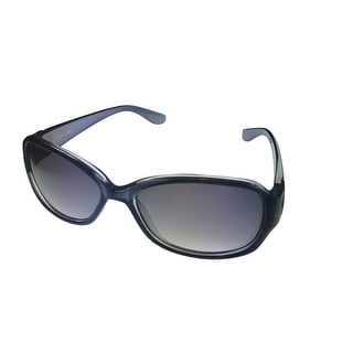 Ellen Tracy Womens Sunglass Plastic Dark Blue Rectangle , Blue Lens ET 503 1 - Medium