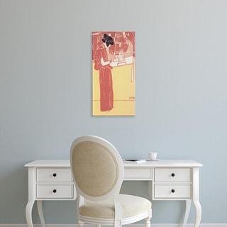 Easy Art Prints Gustav Klimt's 'Music' Premium Canvas Art