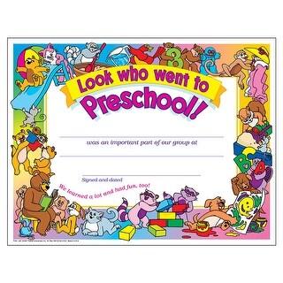Look Who Went To Preschool 30/Pk 8 1/2 X 11 Certificates