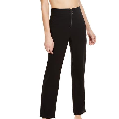 Danielle Bernstein Women's Dress Pants Black Size 6X30 Zip Up Stretch