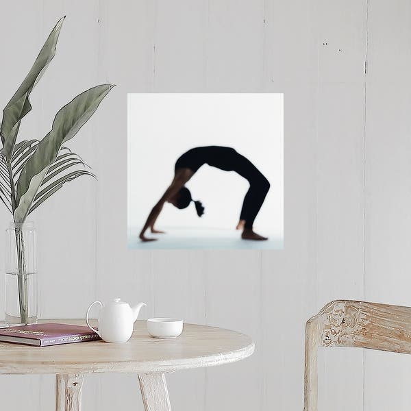 Shop Woman In Yoga Backbend Pose Poster Print Overstock 16377723