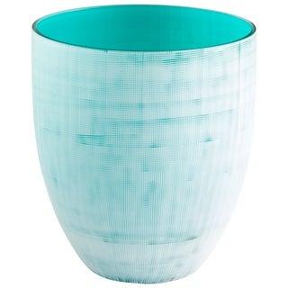 "Cyan Design 09511  Alabama 7-1/2"" Diameter Glass Vase - Icy Blue"