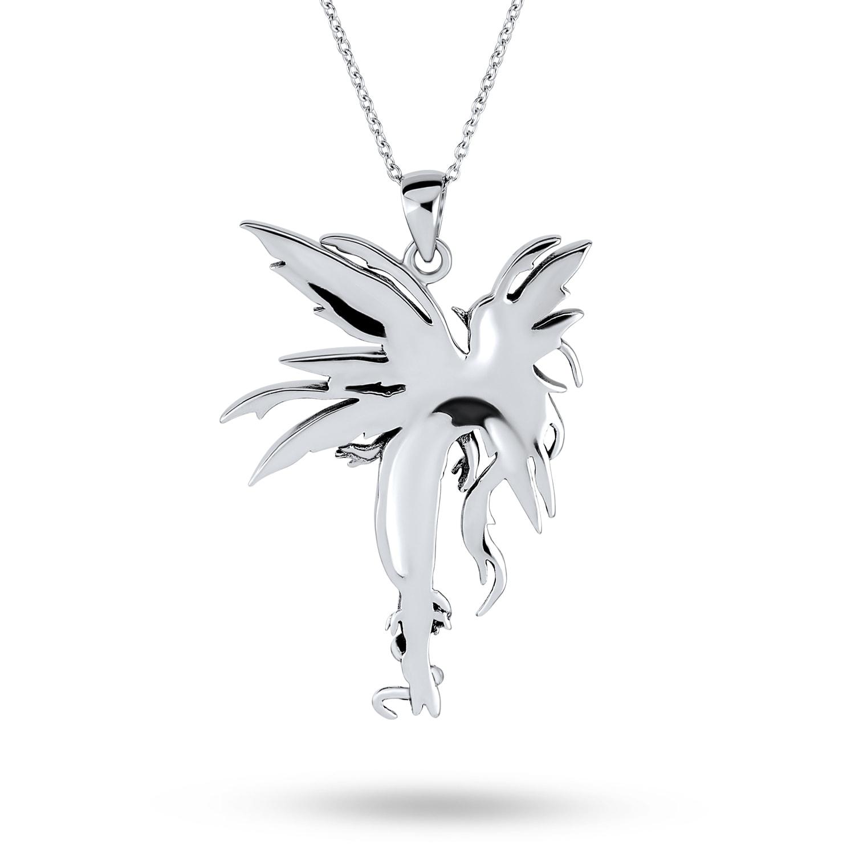 lapis lazuli and silver fairy pendant
