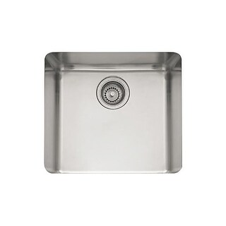 "Franke KBX-110-18 Kubus 18"" Single Basin undermount 18-Gauge Stainless Steel Bar Sink"