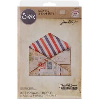 """Sizzix Movers & Shapers """"L"""" Magnetic Die By Tim Holtz-Envelope"""