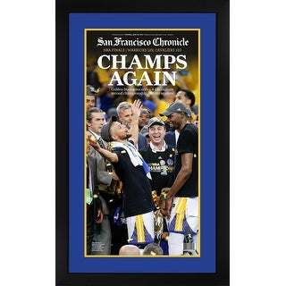 Golden State Warriors 2017 NBA Champions San Francisco Chronicle Basketball Framed Newspaper