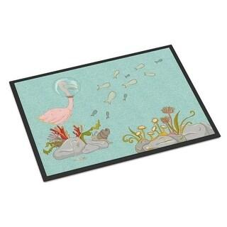 Carolines Treasures BB8535JMAT Flamingo Underwater Indoor Or Outdoor Mat - 24 x 36 in.