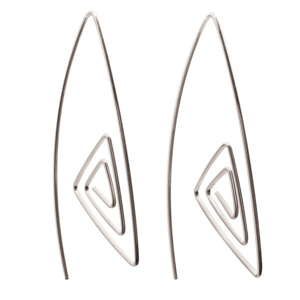 Women's Sterling Silver Maze Earrings