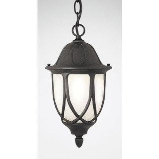 "Designers Fountain 2864-BK 1 Light 11"" Cast Aluminum Hanging Lantern from the Capella Collection - Black"