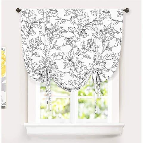 Carson Carrington Tappet Sketch Tie Up Blackout Window Curtain - 45 x 63