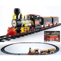 17-Piece Battery Operated Lighted & Animated Classics Train Set with Sound - black