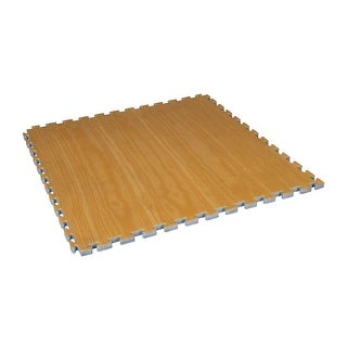 """Century Wood Grain Puzzle Mat  1.5"""" Thick - Blue/Red"""