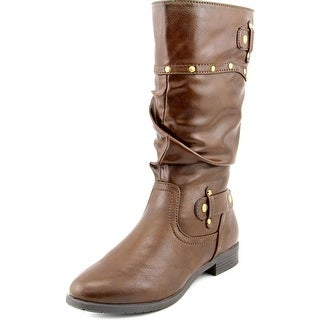 Rialto Fawcett Women Pointed Toe Synthetic Mid Calf Boot
