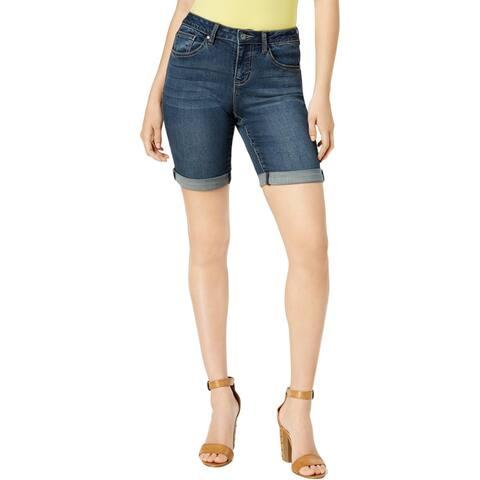 Earl Jean Womens Bermuda Shorts Low Rise Skinny Fit