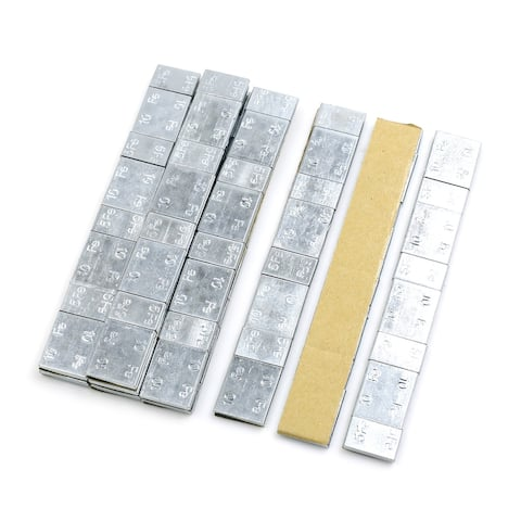 2.1oz Adhesive Back Wheel Balance Weights Strips for Motorcycle 136 x 19mm 10pcs