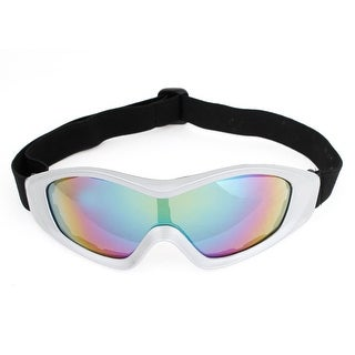 Bicycle Gray Plastic Full Frame Adjustable Elastic Band Goggles for Unisex