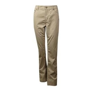 L-RL Lauren Active Women's 5-Pocket Cotton Blend Pants (3 options available)