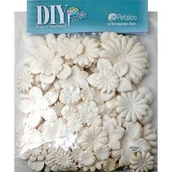 """White - Diy Paintables Mulberry Flower Layers 1"""" - 3.5"""" 360/Pkg"""
