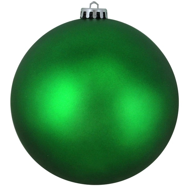 "Matte Xmas Green UV Resistant Shatterproof Christmas Ball Ornament 6"" (150mm)"
