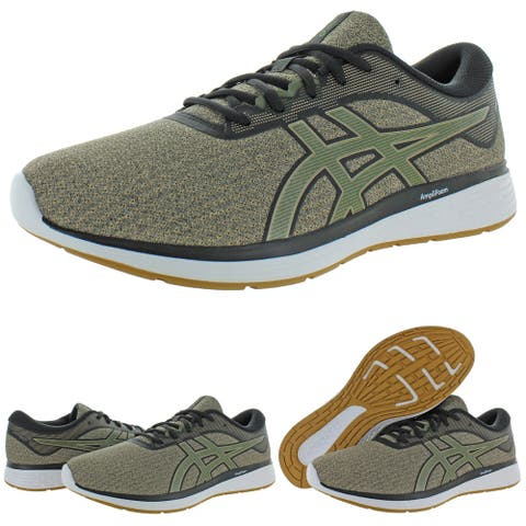 Asics Mens Patriot 11 Twist Running Shoes Trainers Memory Foam - Wood Crepe/Olive Canvas