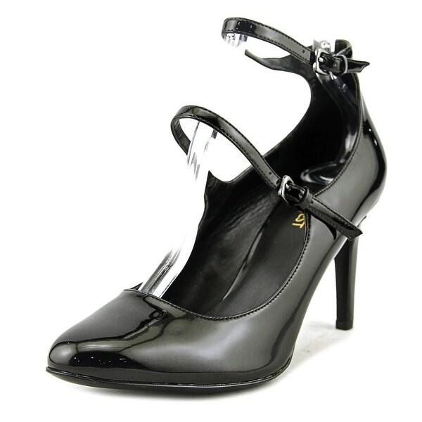 Nine West Hannley Women Round Toe Synthetic Black Heels