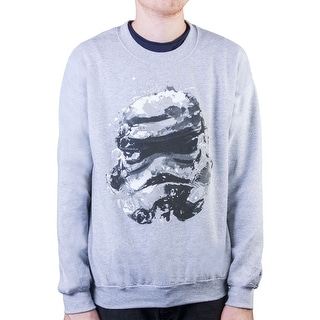 Mens Star Wars Stormtrooper Splatter Heather Grey Pullover - Heather Grey