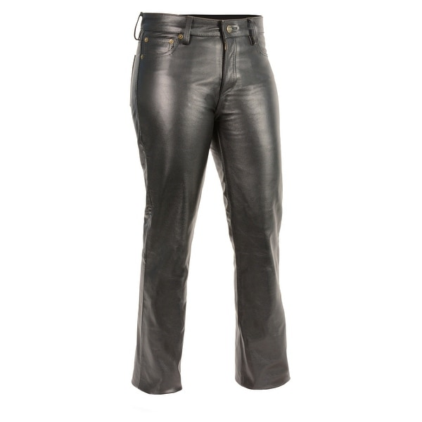 be9b1cb7c19a63 Shop Women's Classic 5 Pocket Leather Pants - Free Shipping Today -  Overstock - 17305937