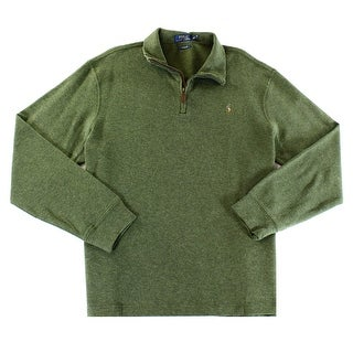 Polo Ralph Lauren NEW Green Mens Size 2XL Pullover 1/2 Zip Sweater