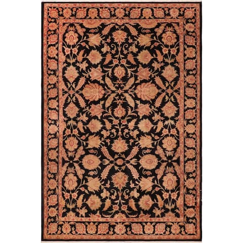 """Shabby Chic Ziegler Thomasin Hand Knotted Area Rug -6'4"""" x 9'1"""" - 6 ft. 4 in. X 9 ft. 1 in."""